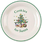 Nikko Happy Holidays Cookies for Santa Plate  Tray