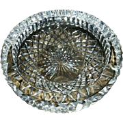 SOLD LG Waterford Ashtray Crystal Signed EXCEPTIONAL