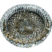 SOLD Waterford Ashtray Crystal Signed EXCEPTIONAL
