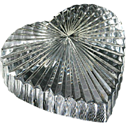 VALENTINE'S DAY  Waterford Heart Paperweight Crystal Signed
