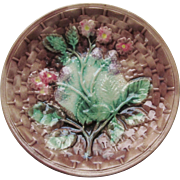 SALE Majolica Plate c.1890 Griffen Smith and Hill  Etruscan