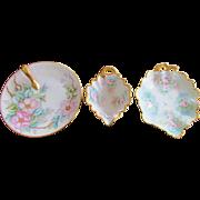 Bavaria Austria Germany Plate Dish Gravy Gold Trim 1880's