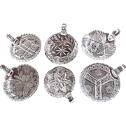 GROUP-SIX Cut Glass Nappy Dish c.1890-1910 Great Quality