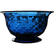 Pairpoint Bowl Cobalt Signed