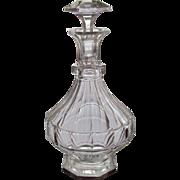 Bohemian Decanter Cut Glass