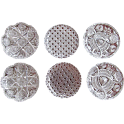 Group-6  Cut Glass Dish Bowl c.1890's THREE PAIRS