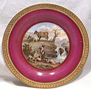 REDUCED 19th Century Prattware Plate The Waterfall