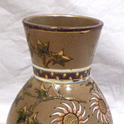 SALE Sarreguemines French Aesthetic Movement Emaux Vase