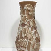 SALE Huge Art Deco Phoenix Art Glass Philodendron Vase