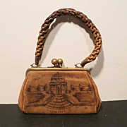 SALE 1904 St Louis World's Fair Leather Purse