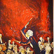 REDUCED c1940 Mervin Jules Serigraph (The Conductor)