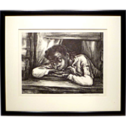 "REDUCED Original Marion Greenwood AAA Lithograph ""The Window"""
