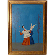 REDUCED Veniero Canevari Original Midcentury Oil on Panel