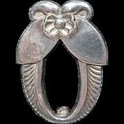 REDUCED Georg Jensen Sterling Cactus Flower Pin / Brooch No. 227