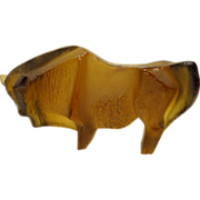 REDUCED Bull Glass Sculpture by Professor Jan Cerny
