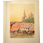 REDUCED Germ de Jong Vintage Bound Collection of Dutch Lithographs