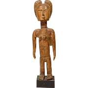 REDUCED Pre 1940 African Carved Wood Figure Ashanti Tribe