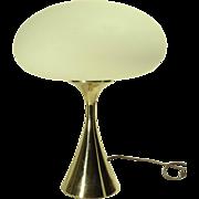REDUCED 1960s Laurel Mushroom Table Lamp w/ Brass Base
