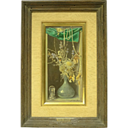 REDUCED c1950 Trompe L'Oeil Still Life Painting by Walter Benoldi