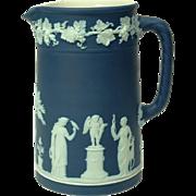 REDUCED c1924 Wedgwood Dark Blue Jasperware Pitcher