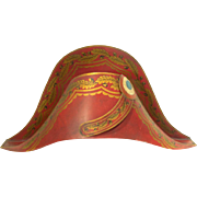 Vintage French Tole Napoleonic Hat Planter - Mottehedeh Designs