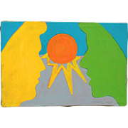 1968 Pop Art Painting by Janice Lefton de Luigi