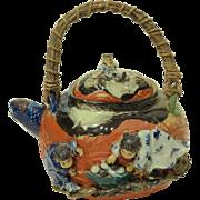 Antique Sumida Gawa Tea Pot
