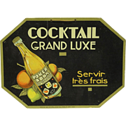 REDUCED French Art Deco Soda Advertising Sign