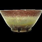 1930s WMF Ikora Glass Large Vase / Bowl