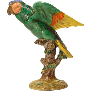 Vintage Italian Pottery Parrot Figure by Zaccagnini