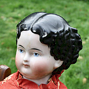 "24"" Uncommon Modified Flat Top China Doll, Damaged Shoulder Plate"