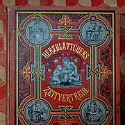 c1880s Herzblattchens Zeitvertreib (Pastime) German Children's Book, Illustrated