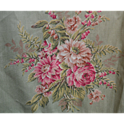 SOLD 1930s Cottage Charm, Pink / Green Floral, Sturdy Cotton Hanging Garment Bag,