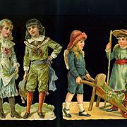 Larger Size Children Victorian Die Cuts  #224