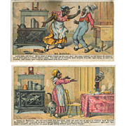 Victorian Trade Cards Rising Sun Stove Polish, Black Americana