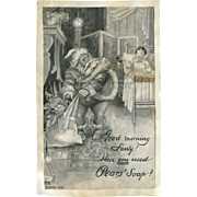 1897 Santa Claus on Pears Soap Advertisement