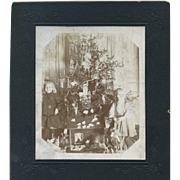 SOLD c. 1910 Cabinet Photo, Children, Christmas Tree, Toys