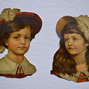 Victorian Die Cuts, Regency Boy and Girl, Gold Trim, Set #2
