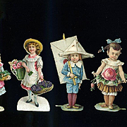 Victorian Die Cuts, Children, Little People, Lot #30