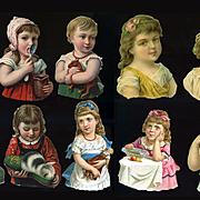 Victorian Children Half Figures Die Cuts #62