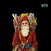 Antique Santa Claus Christmas Die Cut #76