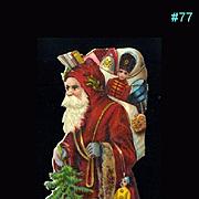 Antique Santa Claus Christmas Die Cut #77