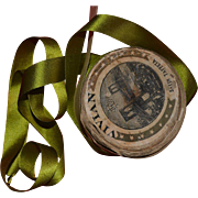 c. 1890's 4 Yards Apple Green Fine Silk Ribbon / Bows, Ruching, Gather, Hats, Dolls
