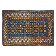 SALE Antique Shirvan Caucasian Oriental Rug with Blue Ground, Late 19th Century