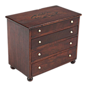 SALE American Federal Miniature Antique Chest of Drawers, Massachusetts c. 1805-15