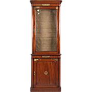 SALE French Empire Style Mahogany Vitrine Cabinet, Antique c. 19th Century
