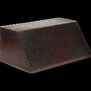 SALE American Mahogany Antique Letter Box, Miniature Desk, 19th Century