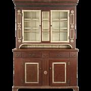 SALE Pennsylvania Painted Antique Cupboard Cabinet, 19th Century