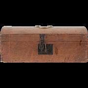 SALE Pennsylvania Dome Dovetailed Antique Box of Miniature Size, c. 1820