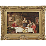 SALE PENDING Emmanuel Costa French Antique Painting, Signed